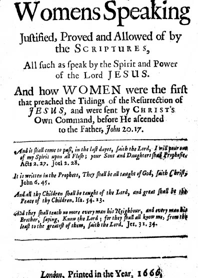 Womens Speaking Justified Proved And Allowed Of By The Scriptures